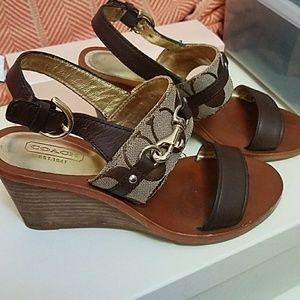 b3152431ec0ed Coach Shoes - Coach PAM wedge sandals